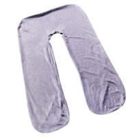 Removable Cover Case for U-shaped Pregnancy Maternity Body Pillows Grey