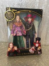 ALICE & MAD HATTER DISNEY BARBIE DOLL SET THROUGH THE LOOKING GLASS 2016 NRFB