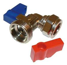 QW chrome plated brass angle washing machine valve