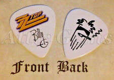 ZZ TOP Band BILLY GIBBONS Signature  Logo guitar pick  -(K)