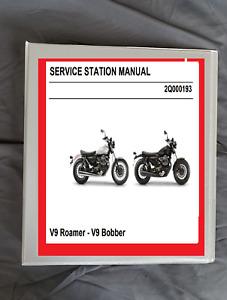 2016 Moto Guzzi V9 Roamer & V9 Bobber service shop manual & owners manual