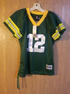 Green Bay Packers Aaron Rodgers #12 Women's Sewn Reebok Bling Jersey Medium NWT