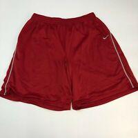 Nike Football Dri-Fit Shorts Mens Size XXL Red Gray Athletic Gym Sports Training