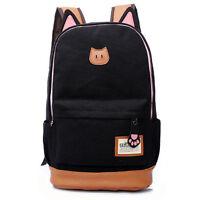 Cute Fashion Women Cat Backpack Schoolbag Satchel Shoulder Bag Travel Bookbag