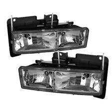 Chevy 88-98 GMC C/K Pickup 1500/2500/3500 Chrome Housing Replacement Headlights