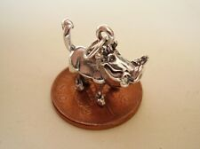 GORGEOUS SOLID 3D  WARTHOG WILD BOAR STERLING SILVER CHARM CHARMS