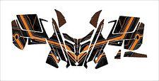POLARIS 2015 GRAPHIC PRO R  RMK wrap decals ASSAULT indy 121 144 155 163 orange