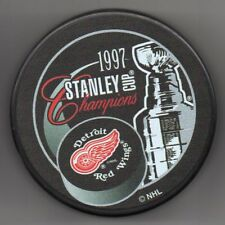Detroit Red Wings 1997 NHL Stanley Cup Champions Hockey Puck + FREE Cube
