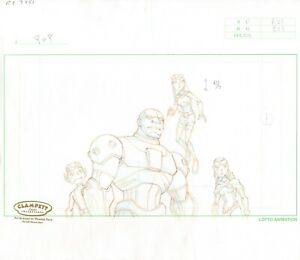 Teen Titans GROUP Production Cel Layout Drawing Warner Brothers 2003-2006 751