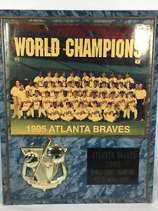 1995 Atlanta Braves World Series Champions Team Picture MLB Baseball Plaque