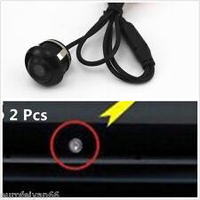 2 pcs multifonction 360 ° rotatif voiture side view reverse backup mini caméra ccd