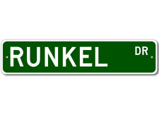 RUNKEL Street Sign - Personalized Last Name Signs