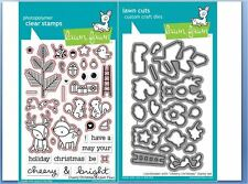 Lawn Fawn Photopolymer Clear Stamp & Die Combo ~ CHEERY CHRISTMAS ~LF1216,1217