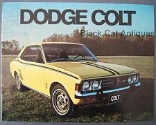 Vintage Chrysler Dodge Colt GT 2-Dr Coupe/Hardtop 4-Dr Sedan Stn Wagon Brochure