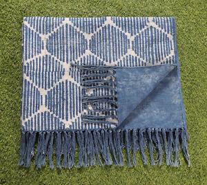 4x6 ft Blue Indigo Rug Handmade Cotton Rug Floor Rug Area Rug Indian Carpet Rug