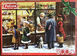 FALCON DE LUXE PUZZLE, 500 Pieces : THE CHRISTMAS WINDOW