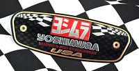Yoshimura Logo Motorcycle Muffler Aluminium Metal Plate Exhaust Emblem R&D USA