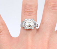 2.14ct EGL Certified Diamond Ring In Platinum With Accents, Antique Inspiration
