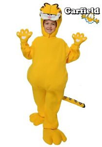 Child Kids Garfield Lazy Yellow Cat Bodysuit Costume SIZE M (with defect)