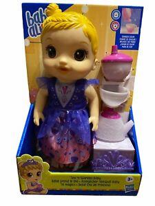 BABY ALIVE Tea N Sparkles Doll - Color Changing Tea Set
