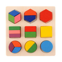 Intellectual Geometry Toy Early Educational Kids Toys Building Block Wooden Z3S1