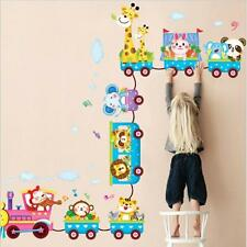 Cartoon Animals on Train Wall Stickers Decals Kids Removal Baby Room Nursery 6A