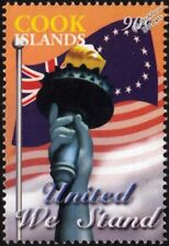UNITED WE STAND Statue of Liberty WTC New York Memorial Stamp/2003 Cook Islands