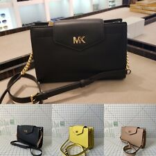 NWT Michael Kors Mott Large Clutch Pebbled Leather Crossbody Bag