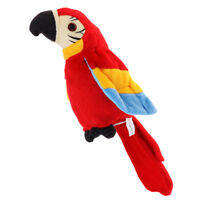 Talking Parrot Repeats What You Say Mimicry Pet Toy Plush Buddy for Kids R