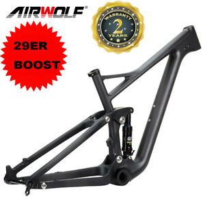 29er Full Suspension Boost Carbon Mountain Bike Frame Mtb with Shock Absorbers