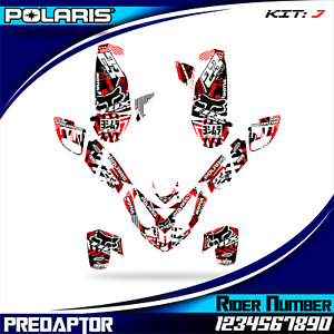 POLARIS PREDATOR 500 decals graphics stickers FULL KIT NEW DECAL GRAPHIC WRAP