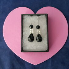 Silver Onyx Fine Earrings