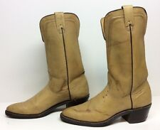 VTG WOMENS TEXAS COWBOY LEATHER LIGHT BROWN BOOTS SIZE 8 N