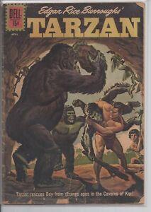 Tarzan #129 - Dell Comics Silver Age 1962 GD/VG