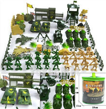 90 pcs Military Base Playset Toy Soldier Army Men 1:36 Figures & Accessories