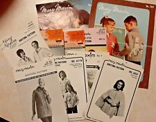 Vintage Knitting Pattern Booklets MARY MAXIM Lot of 14 Sweaters Cape Coat