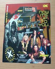 Midway Arcade Revolution X Aerosmith Video Game Original Promotional Flyer