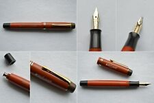 Montblanc Masterpiece Simplo Coral Red Gold Fountain Pen 14C Full Flex EF-BB #4