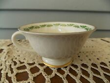 Vintage Franciscan China Arcadia Green Coffee Tea Cup with Gold Rim
