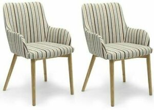 SIDCUP DUCK EGG STRIPE DINING CHAIRS:(a pair) / Sets of 4 and 6 available