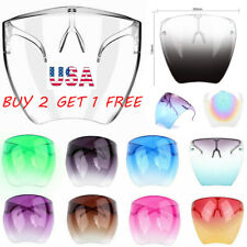 Men's Women's Clear Face Shield Mask Goggles Transparent Reusable Visor Anti-Fog