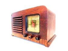 VINTAGE 1940s ART DECO MID CENTURY WOOD PHILCO ANTIQUE OLD ART DECO TUBE RADIO