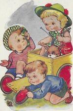 New listing POSTCARD Vintage Philmar Ltd Running Repairs Children Bogey Go Kart Puppy MI/975