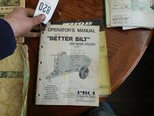 Better Bilt Liquid Manure Spreader Operators Manual Tag 820sr