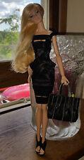 "OOAK Dagamoart Black Bandage dress for Fashion Royalty 12"" Doll - New OOAK"
