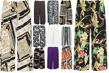 Ladies Womens Elasticated Stretch Printed Plus Wide Leg Culottes 3/4 Shorts 8-30
