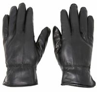 Women's Winter Warm Black Genuine Leather Gloves Insulation Lambskin Gloves