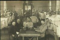 WW1 CAMPAIGN HOSPITAL INFIRMARY RED CROSS WOUNDED WAR PHOTO RPPC POSTCARD