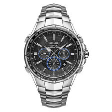Seiko Solar SSG009 Radio Sync Coutura Chronograph Stainless Steel Mens Watch