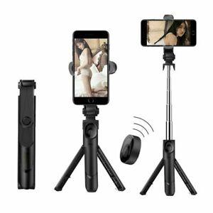 3 In 1 Selfie Stick Phone Tripod Extendable Monopod Bluetooth Remote Smartphone
